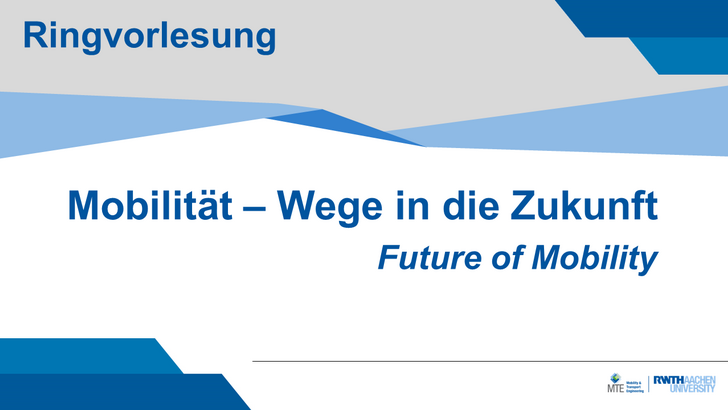 Lecture Series Future of Mobility